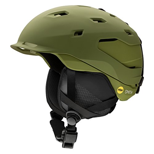 Smith Optics Quantum Adult Mips Ski Snowmobile Helmet - Matte Olive / Medium (Helmet Quantum Mens)