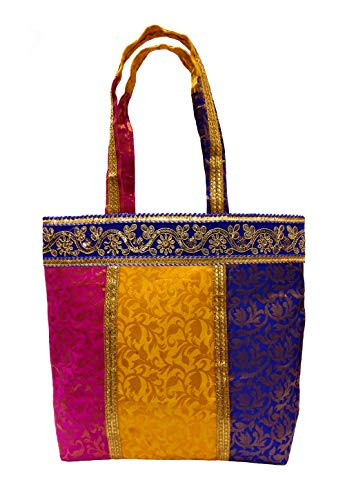 Embroidered Sequin Patch Indian Sari Decorative Cross Body Shoulder Bag/Embroidered Hobo Shoulder Bag (Mutli Beauty)