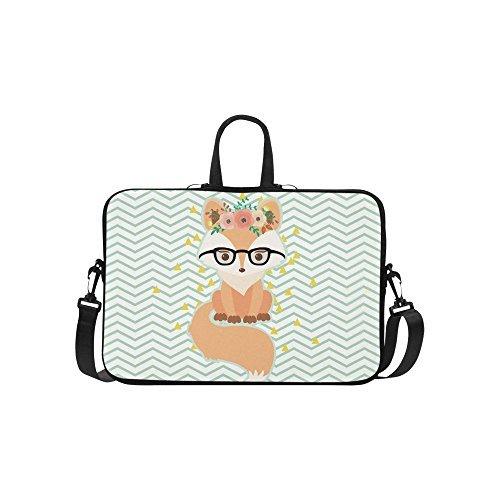 animal chevron fox laptop sleeve