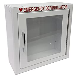The First Voice TS145SM  AED Basic Wall Standard Cabinet, 13.5\