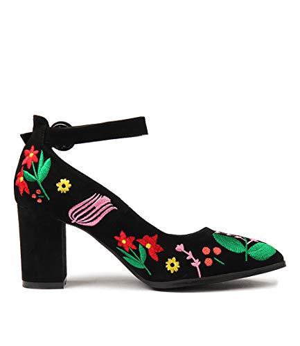 BLACK BRIGHT EM High SUEDE Womens amp; ARIMPLE Shoes Heels DJANGO Sandals JULIETTE qxOZRwXC8