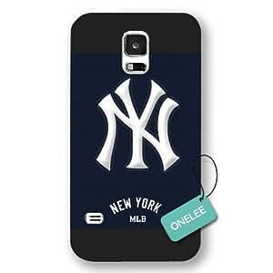 Onelee(TM) - MLB Team New York Yankees Logo Samsung Galaxy S5 Case & Cover - Transparent plastic
