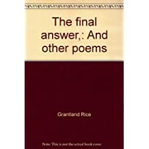 The final answer,: And other poems