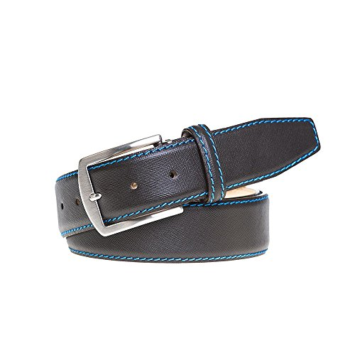 Brown Italian Saffiano Leather Belt by Roger Ximenez: Bespoke Maker of Fine Leather Goods