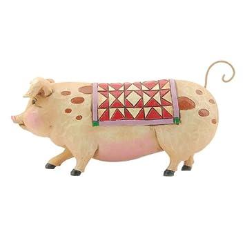 Jim Shore Heartwood Creek Mini Pig Figurine, 2-1 4-Inch