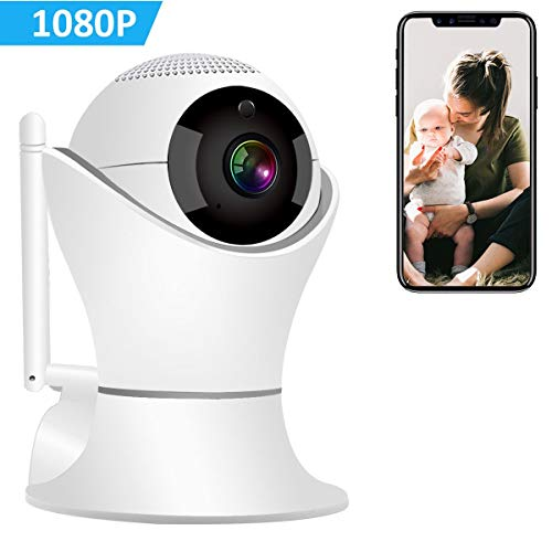 Wireless IP Camera 1080P, Hyton 360 Motion Detection Camera 32 ft Night Vision & 2.4GHz Wifi Camera, 3D Navigation Panorama View Dome Nest Indoor Security Camera, Two-Way Audio, Baby, Pet Monitor