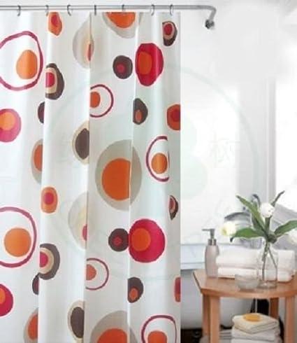 Peva Rideau De Douche Colorful 120 X 200 Cm Orange Marron