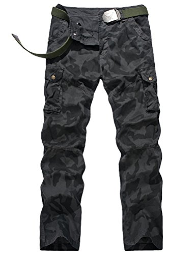 Vogstyle Men's Casual Cargo Pant Cotton Combat Pants Trousers Style 3 Black 34