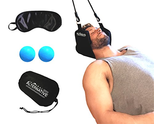 Natural Alternative Head-Neck-Hammock Cervical Neck Traction Device Hammock-For-Neck-Pain-Relief Relaxing-Head-Hammock Neck Stretcher Attach To Door Neck-Pain-Relief in Just 10 Minutes by Natural Alternative