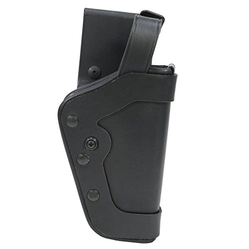 Uncle Mike's Mirage Plain Nylon Pro-2 Dual Retention Duty Jacket Holster (25, Right (Mirage Belt Slide Holster)