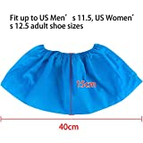 100pcs (50 Pairs) Non-woven Fabric Disposable Shoes Covers Elastic Band Breathable Dustproof Anti-slip Shoe