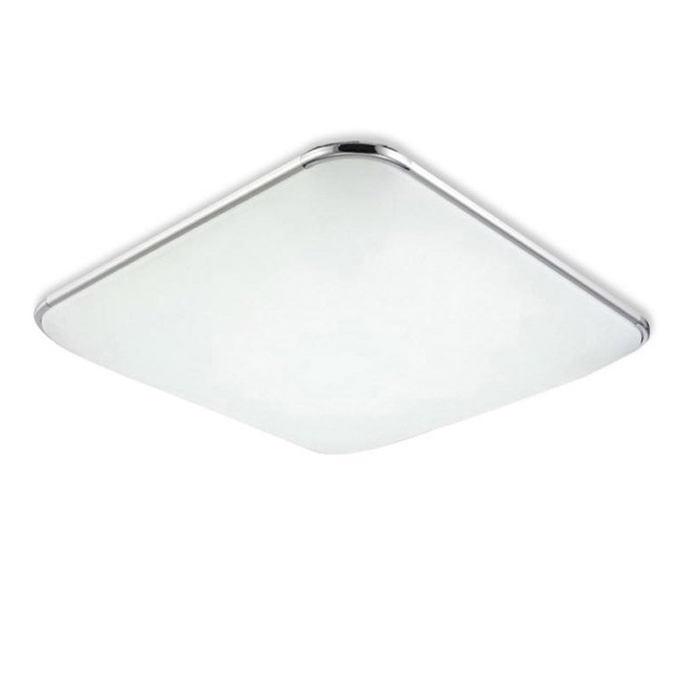 YESDA 18W LED Plafonnier Lampe Moderne Lampe de Plafond pour salon, Cuisine, chambre à coucher, Hôtel - Argenté (Blanc Froid(6000-6500K))
