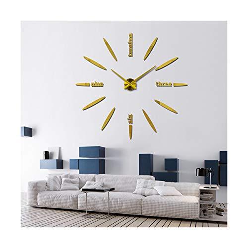 yuan kun Large Wall Clock Acrylic+evr+Metal Mirror Super Big Personalized Digital Watches Clocks Hot DIY