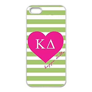 Kappa Delta Green Stripes iPhone 5 5s Cell Phone Case White Delicate gift JIS_281096