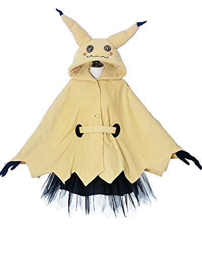 Miccostumes Women's Mimikyu Cosplay Cloak with Skirt Belt Gloves (S)