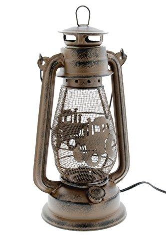 MayRich 12'' x 7'' Rustic Metal Mesh Electric Lantern (Farm Tractor) by Mayrich