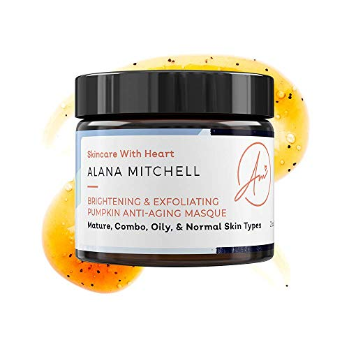 Brightening & Exfoliating Pumpkin Anti-Aging Masque By Alana Mitchell - Ginger Clove Instant Gel Mask (2 ounce) ()