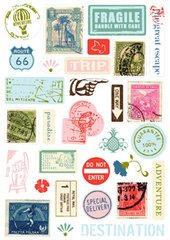 - MAKING MEMORIES Passport Pebble Stickers,30 per Package