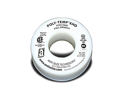 ANTI-SEIZE TECHNOLOGY 46260 White PTFE Poly-Temp Extra Heavy Duty Tape, 520