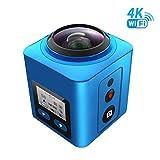 SEREE Sports Camera 360 Degree Panoramic VR 4K Action Camera Waterproof Multi-Mode WiFi Mini DV