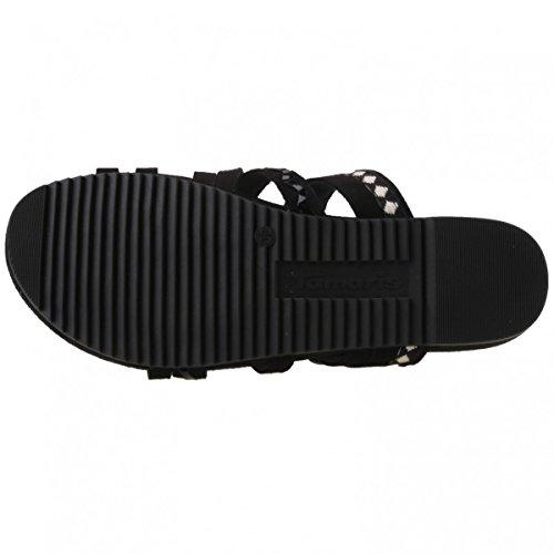 Tamaris - Sandalias de vestir de Material Sintético para mujer Negro Schwarz (Black Comb 098)