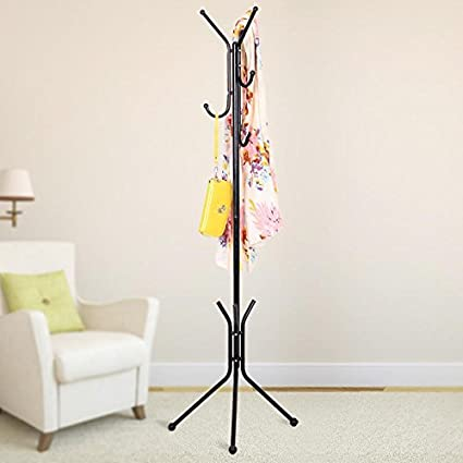 House of Quirk Wrought Iron Coat Rack Hanger Creative Fashion Bedroom for Hanging Clothes Shelves
