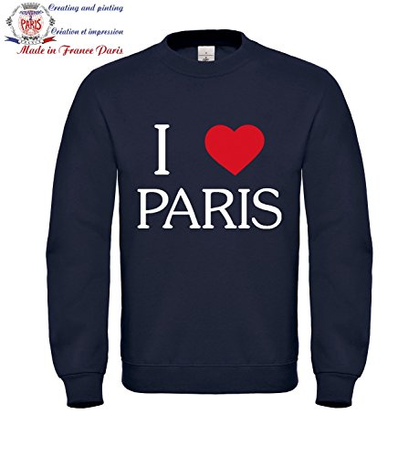 Sweat shirt Femme taille L Bleu - i love Paris