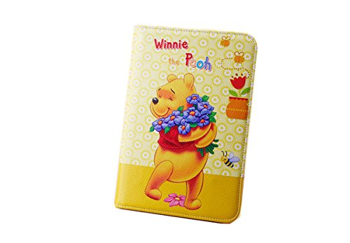 iPad Mini Winnie Case iPad Mini Winnie Wallet Case,Bat King Minnie Winnie Series Premium Leather Flip [Wallet] Shell Cover with Card Holder for Apple iPad Mini 1/2/3(Happy Winnie)