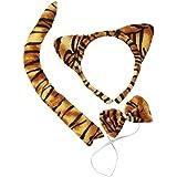 P'TIT CLOWN 19970 Kit de Tigre - Serre-Tête - Queue et Nœud Papillon - Multicolore