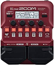 Zoom B1 FOUR Bass Guitar Multi-Effects Processor Pedal, With 60+ Built-in effects, Amp Modeling, Looper, Rhyth