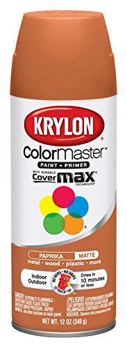 Krylon Colormaster Indoor/Outdoor Aerosol Paint 12 oz Paprika by Krylonの商品画像