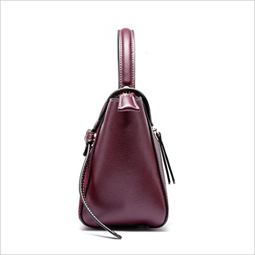 Lady épaule en Sac Rouge à Générique Scrub à 18cm Messenger bandoulière Taille Vin Sac 11 21 Cuir Bag Main Femme IfACCnxwq