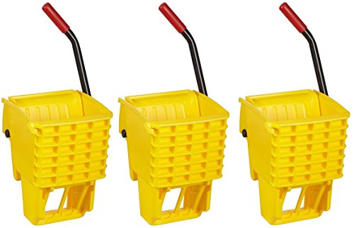 Rubbermaid Commercial FG612788YEL Side-Press Wringer for 13- to 32-ounceWaveBrake Mop Buckets, Yellow (3 PACK) by Rubbermaid Commercial Products