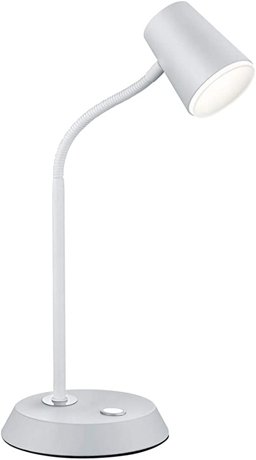 Trio Narcos-Sobremesa LED, 4,7 W, 470 LM, 3000K Metal Estera Blanca IP20, 23.0 x 15.0 x 38.0 cm: Amazon.es: Iluminación