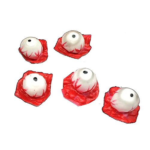 super1798 5Pcs/Set Artificial Bloody Fake Eyeballs Scary Prop for Halloween Horror Trick ()