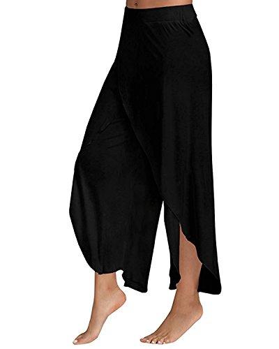 Moda Pantaloni Sportivi Casual Coulisse Styledome Eleganti Jogging Ufficio Stretch Yoga Nero Slim Donna RqBaYZ