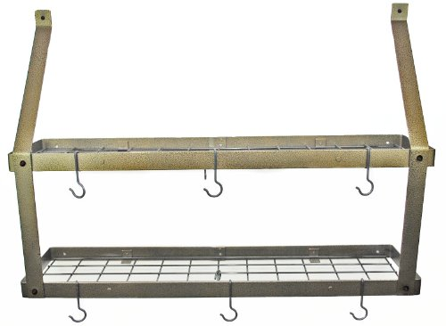 Rogar Double Bookshelf Potrack (Hammered Bronze/Black)