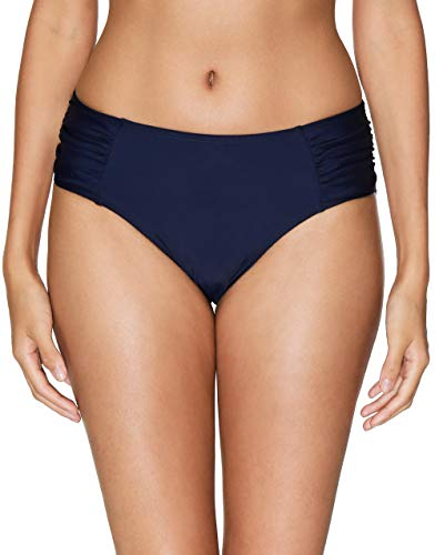 V FOR CITY Women's Retro Low Rise Bikini Bottoms Swim Briefs Ruched Swimsuit Shorts S Navy