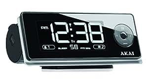 Akai AR270P - Radiodespertador con proyector de la hora (Digital, FM, PLL, LCD, 180g, AAA), color negro