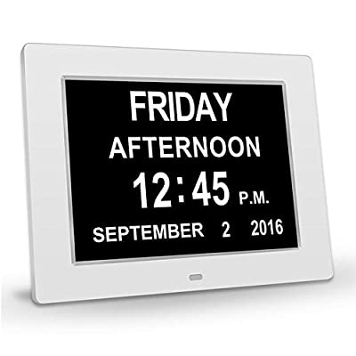 Memory Loss Digital Calendar Day Clock Extra Large Non-Abbreviated Day Month Perfect for Seniors