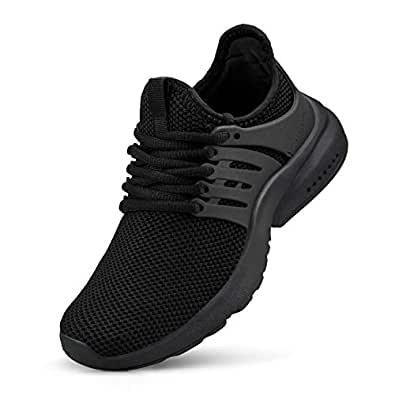 domirica Boys Girls Shoes Athletic Running Walking Shoes Casual Sports Shoes Fashion Sneakers(Little Kid/Big Kid) Black Size: 1 Little Kid