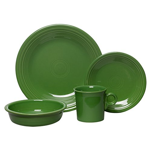4 Place Settings Classic Dinnerware - Fiesta 4-Piece Place Setting, Shamrock