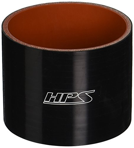 (HPS HTSC-350-BLK Silicone High Temperature 4-Ply Reinforced Straight Coupler Hose, 75 PSI Maximum Pressure, 3