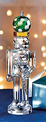 The Paragon Crystal Nutcracker - Handcrafted Faceted Christmas Nutcracker Tabletop Decoration or Ornament
