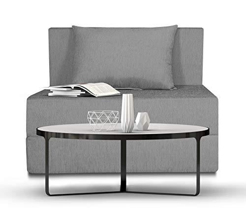 Adorn India Easy Single Seater Sofa Cum Bed Alyn 3'x 6′ (Grey)