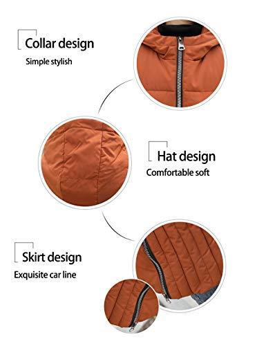 Inverno 2xl Taglia Cotone Lungo Fit Cappuccio Outwear Coffee Xl Caldo Besbomig Casual L Zipper Womens Slim Autunno Gilet Jacket Di Con 3xl a6E6nAOqwH