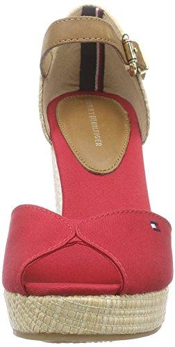 Sandales Hilfiger Tommy Midnight Red Femme 11D 611 Multicolore Tango Elena TtW4WRwnqB