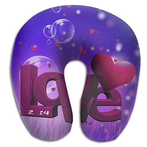 Neck Pillow Love Dreamy Background Travel U-Shaped Pillow Soft Memory Neck Support for Train Airplane Sleeping -