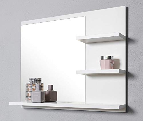 DOMTECH colore: bianco Specchio da bagno con mensola illuminazione a LED
