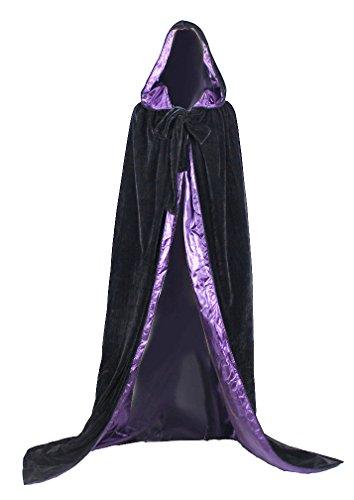 ANGELWARDROBE Halloween Hood Cloak Medieval Wedding Cape (Velvet Cape With Hood)